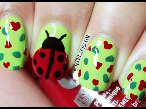 Ladybug nail art - Ladybug Nail Art - YouTube