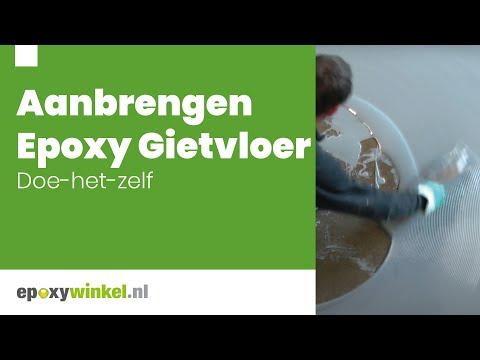 Epoxy Gietvloer Aanbrengen | Epoxywinkel.nl