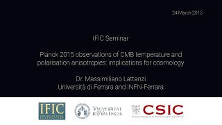 Repeat youtube video Massimiliano Lattanzi: Planck 2015 observations of CMB temperature...