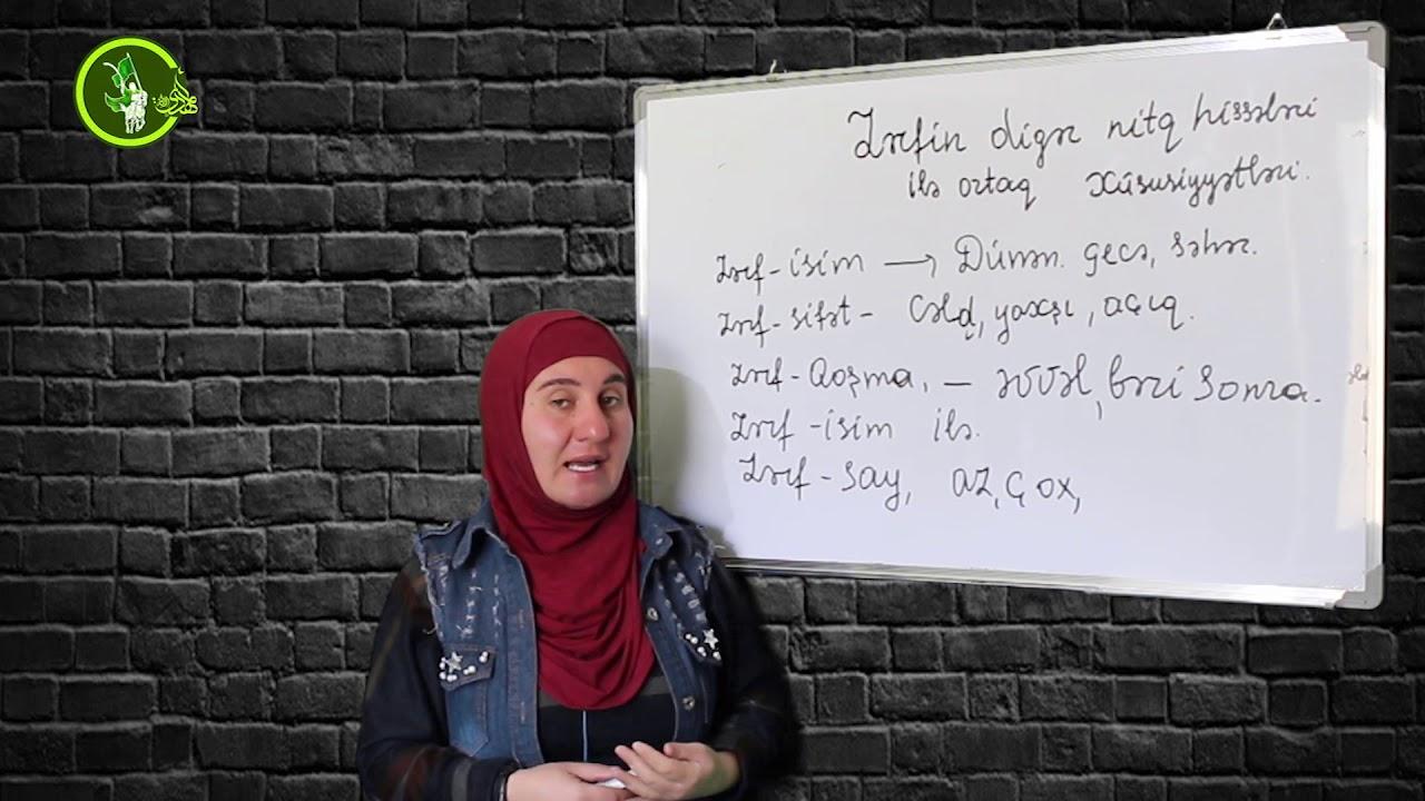 Zərfin digər nitq hissələrindən fərqi #Azərbaycan #dili #4-cü dərs