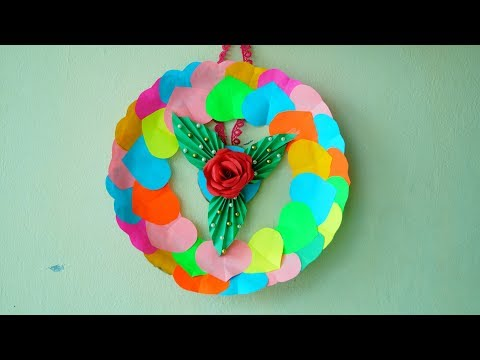 paper-craft-|-paper-heart-wall-hanging-|-wall-decoration-ideas