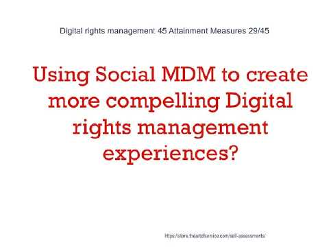 Digital rights management 45 Attainment Measures