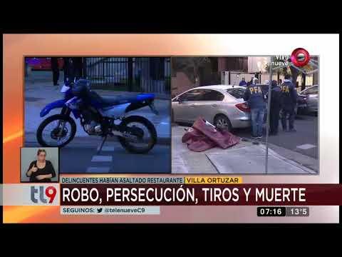 Robo, persecución, tiros y muerte