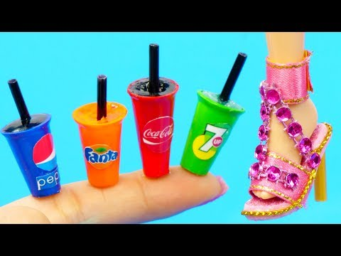 11 DIY Hacks & Crafts for Barbie: Drinks, Shoes, Purse and more!