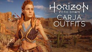Horizon Zero Dawn - Carja Silk & Blazon Outfits (All Types of Carja Outfits)