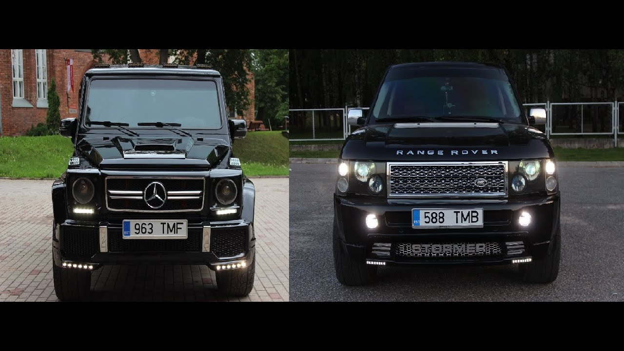 range rover vs mersedes g class youtube. Black Bedroom Furniture Sets. Home Design Ideas