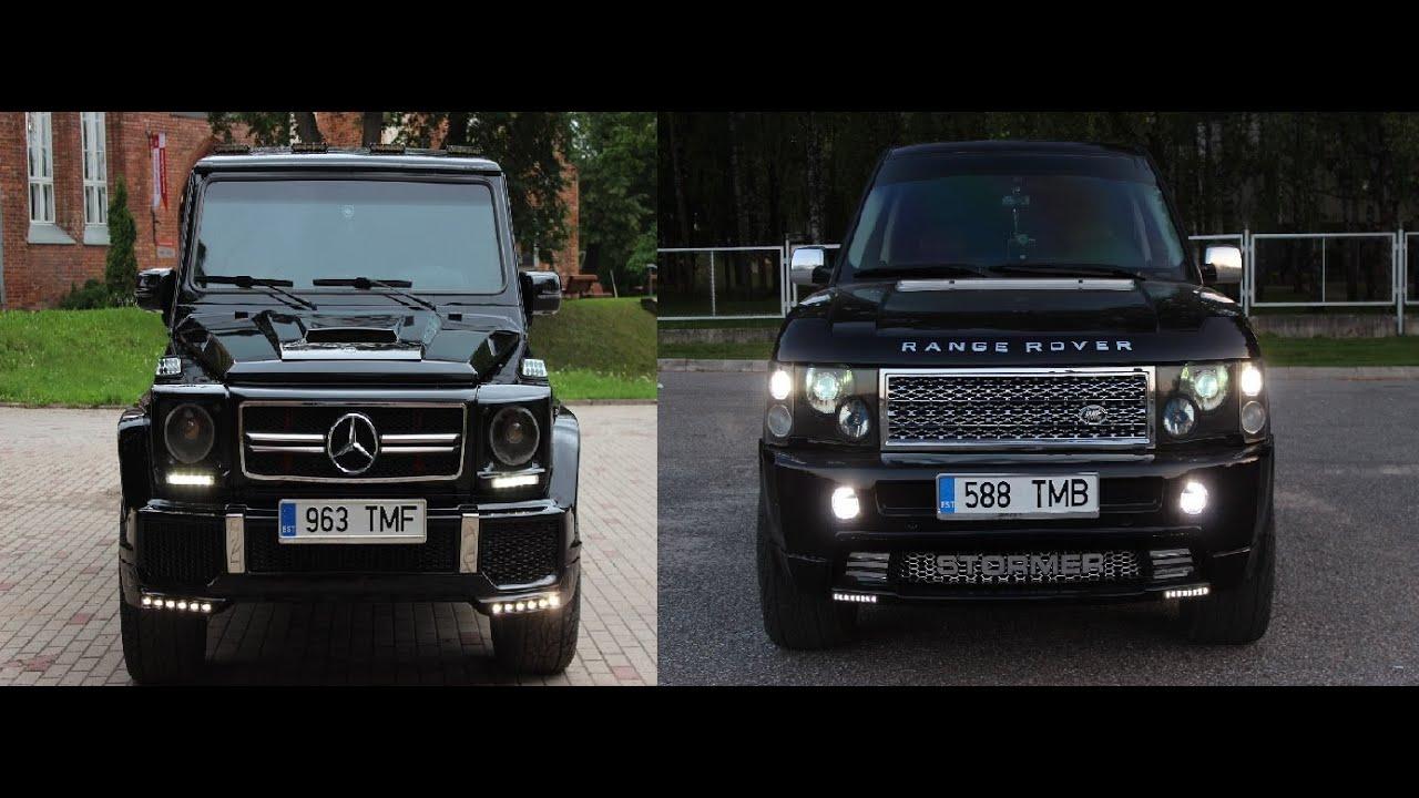 Range Rover Vs Mersedes G Class Youtube