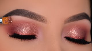 EASY Soft Sparkly Eye Makeup Tutorial