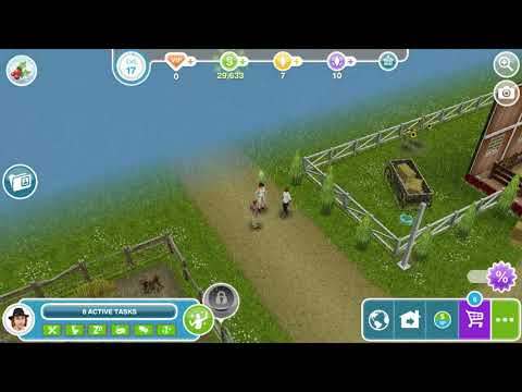 The Sims Freeplay - Need For Steed / Clean Up Mess In Yard With Your Sims