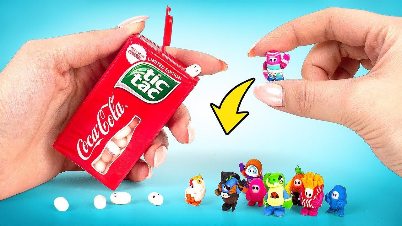 Como fazer o jogo Fall Guys com Tic Tacs & Argila de polímero