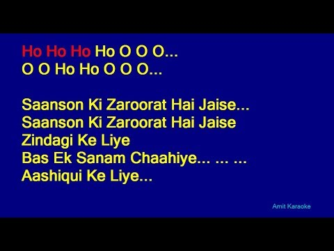 Saanso Ki Zaroorat Hai Jaise - Kumar Sanu Hindi Full Karaoke with Lyrics