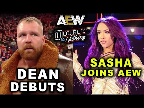 10 Last Second AEW Double or Nothing 2019 Rumors & Spoilers - Dean Ambrose & Sasha Banks Join AEW