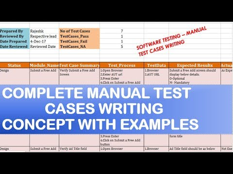 Software Testing Tutorials | Manual Test Cases Writing Examples