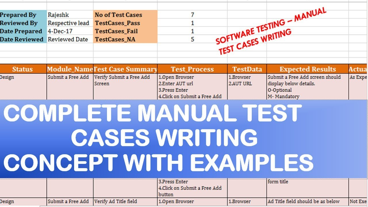 Software Testing Tutorials  Manual Test Cases writing examples-Part 25