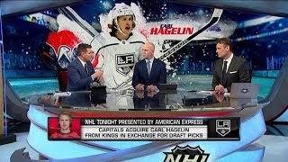 NHL Tonight:  Carl Hagelin trade:  The Capitals` have acquired Hagelin from the Kings  Feb 21,  2019