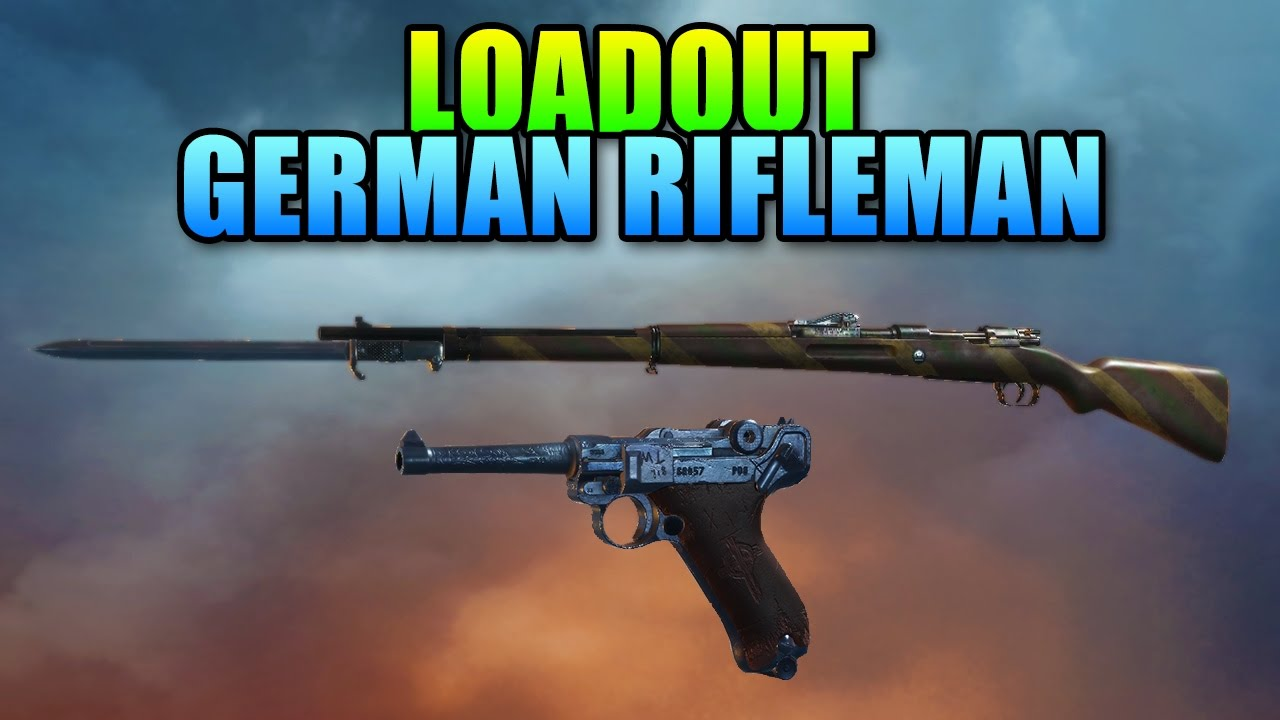 Loadout German Rifleman Gewehr 98 Infantry | Battlefield 1 Sniper Gameplay