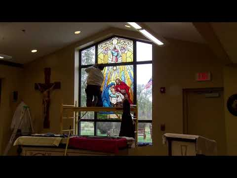 Stained Glass Window Installation