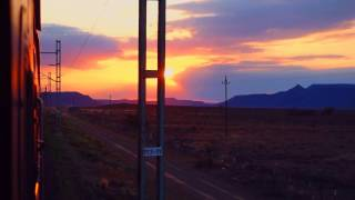 African SUNRISE - Shosholoza Meyl TRAIN, Tourist Class, economy sleeper Joburg 2 Cape Town (Sep