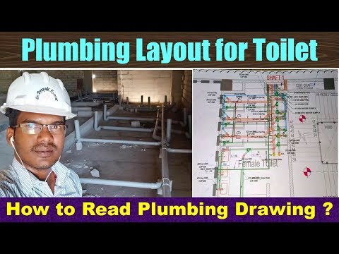 Plumbing Layout for Toilet | How to Read Plumbing Drawing?