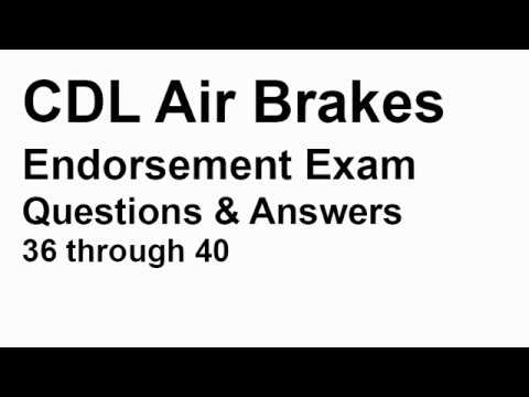 CDL Air Brakes Practice Test 01 | CDL Knowledge