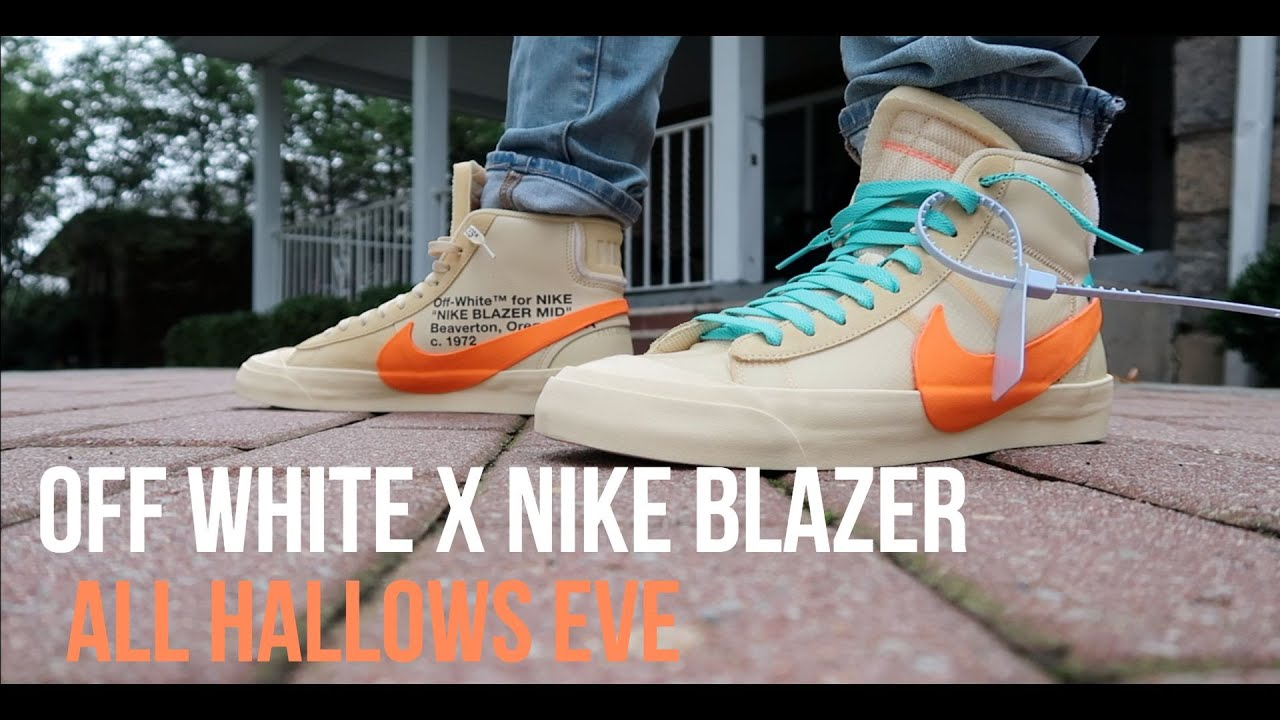 Off White X Nike Blazer Mid All Hallows Eve Review On Feet So
