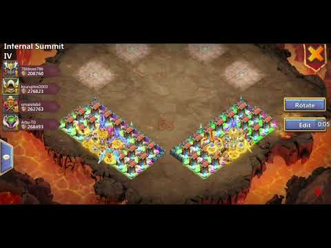 Castle Clash Team Here Be Monsters HBM Infernal Summit 4 (IS4)