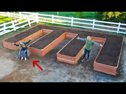 How To Build A MASSIVE Raised Garden - For Wheelchair Users!