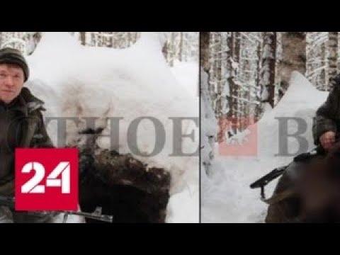 Охота или браконьерство: снимок чиновника с убитым медведем в Instagram заинтересовал следователей…