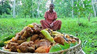 Village Foods ❤ Cooking Devilled Fried Chicken by Grandma / Village Life