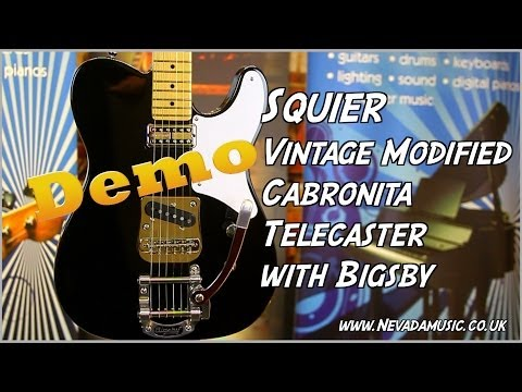 Squier Vintage Modified Cabronita Tele with Bigsby Demo - Damon at Nevada Music