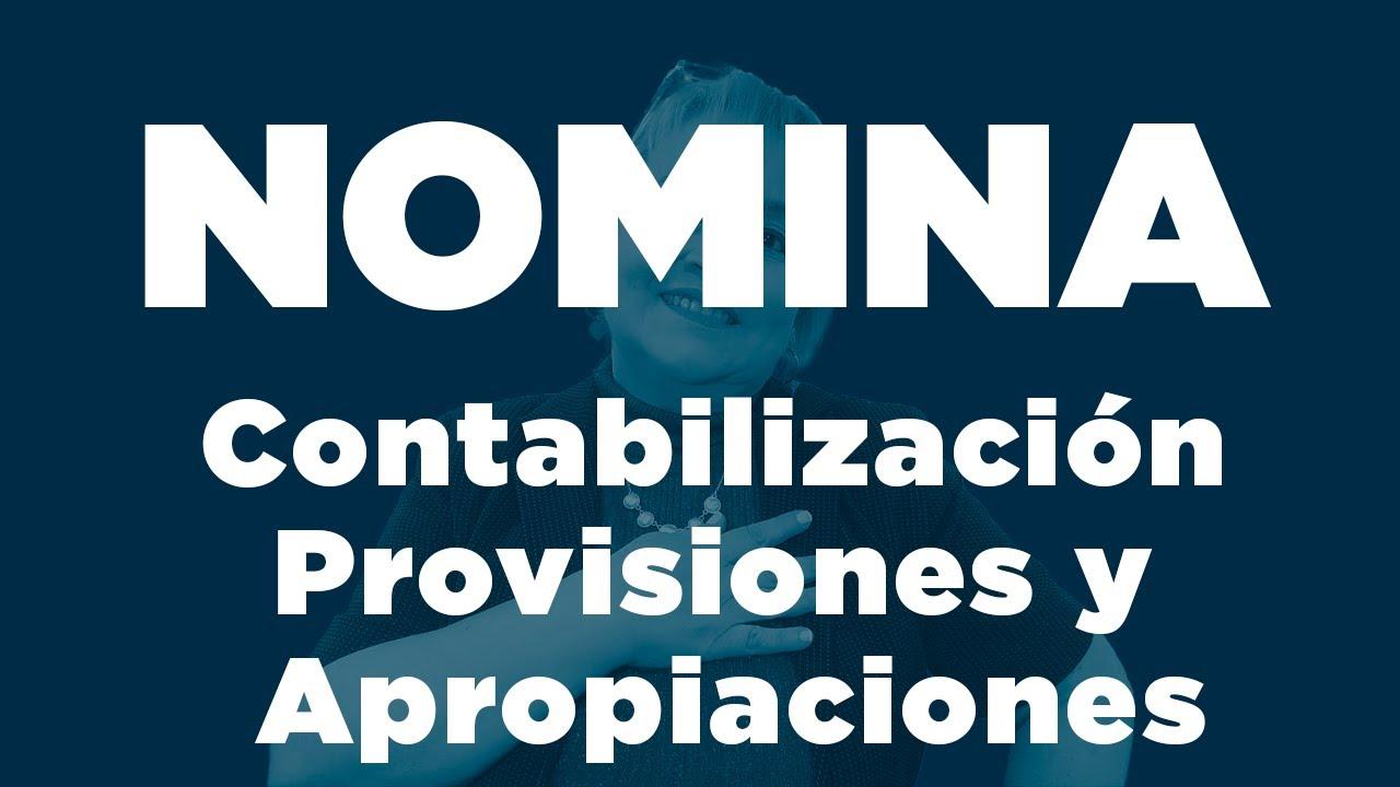 87 contabilizaci n provisiones y apropiaciones de n mina for Formato nomina excel