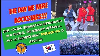 HD Taekwon-Do Team exhibition Master Adrogue 2015