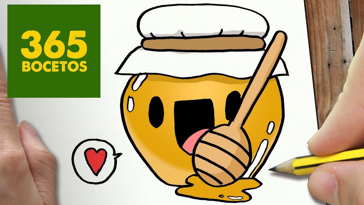 COMO DIBUJAR MIEL KAWAII PASO A PASO - Dibujos kawaii faciles - How ...