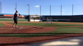 Jason Buffington hitting BP at BLD Las Vegas 3-31-2015