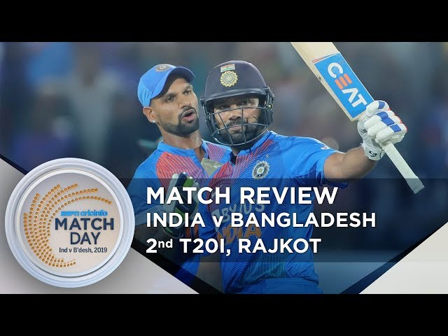 Rohit Sharma dazzles in Rajkot to help India level series   India v Bangladesh, 2nd T20I review
