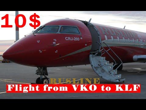 "10$ RUSLINE FLIGHT FROM MOSCOW TO KALUGA | CRJ200ER | Spotting - Aeroflot ""B777"" In Vnukovo"