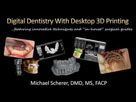3D列印運用在數位牙科網路研討會Digital Dentistry with Desktop 3D Printing Webinar