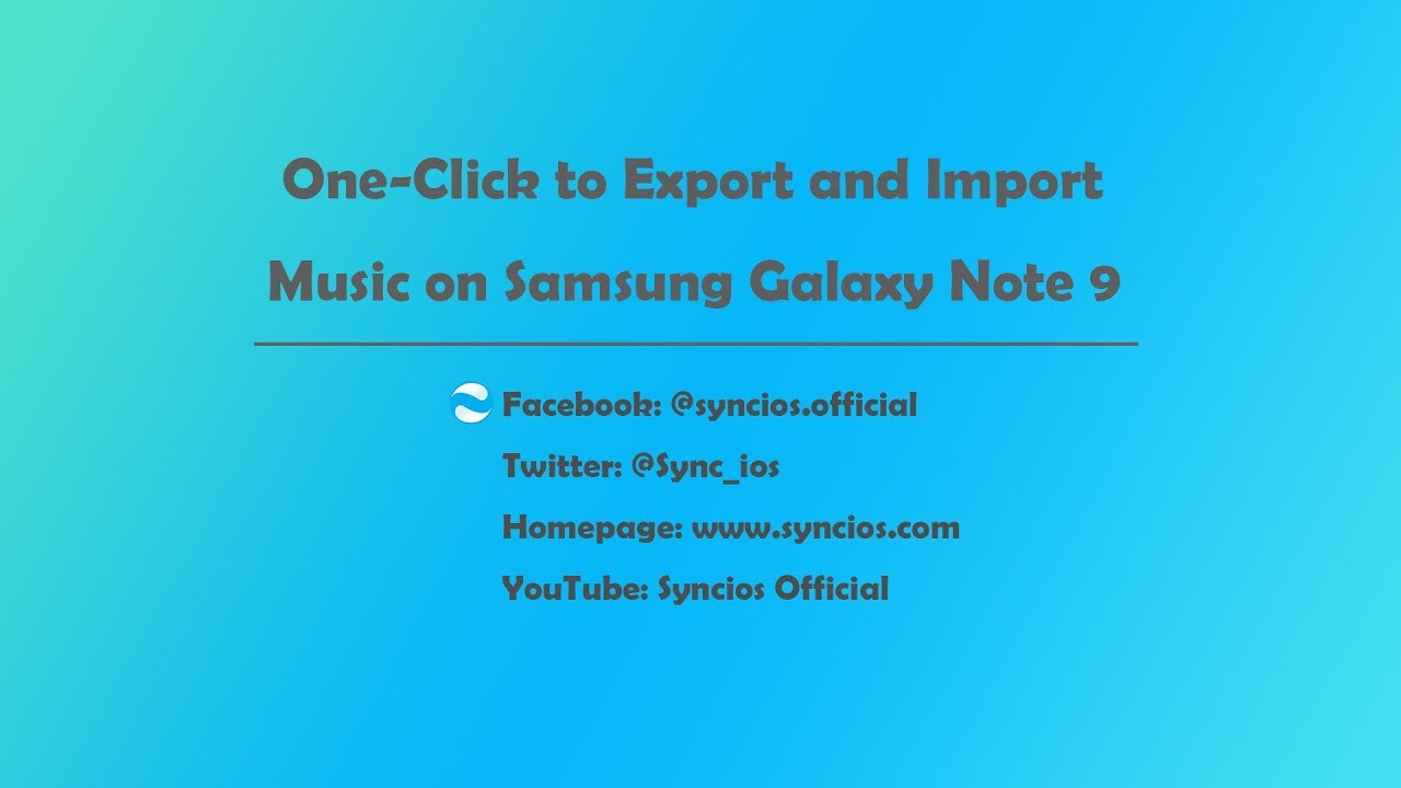 5 Ways to Import Music to Samsung Galaxy Note 9