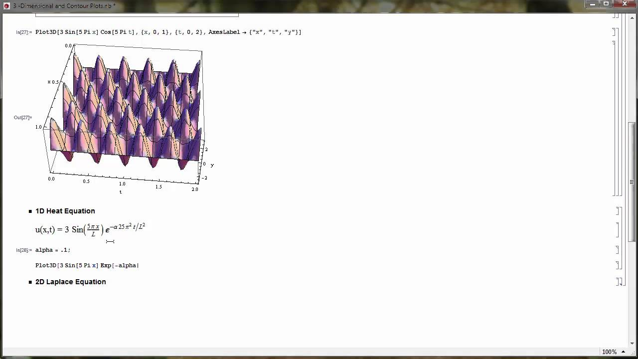 Plotting Solutions to PDEs in Mathematica