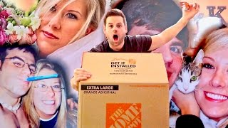 FIRST MOVING BOX PACKED!  WE WERE SO YOUNG! ...