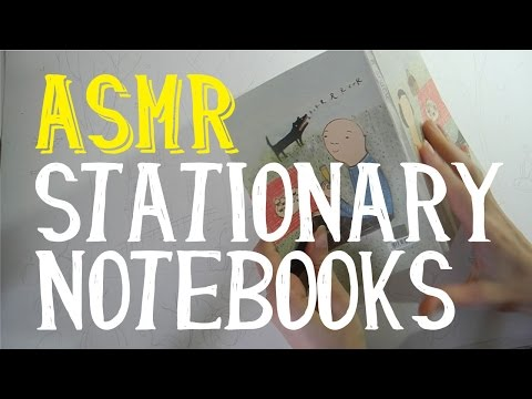 ASMR Stationary and Notebooks from all around the World | Whispering