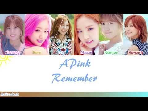Apink (에이핑크): Remember (리멤버) Lyrics