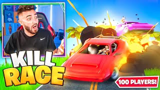 I Got 100 Fans to KILL RACE in CARS!