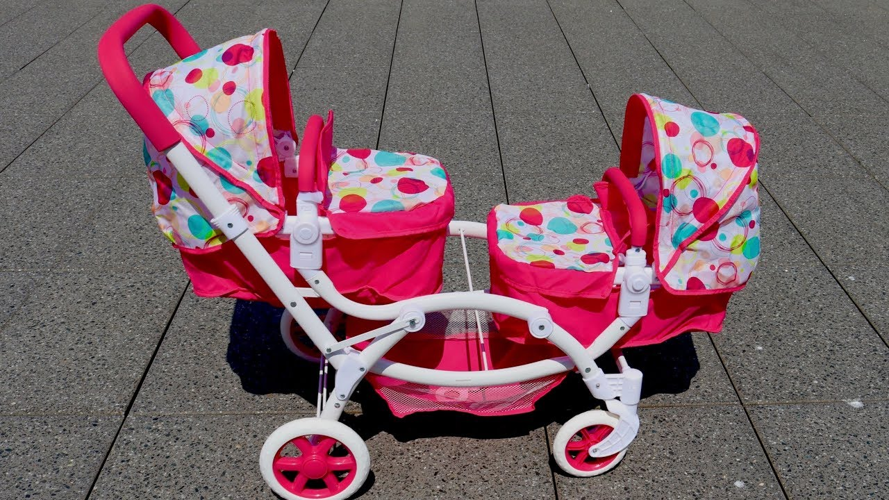 Best Baby Doll Twin Stroller Double Pram Unboxing Set Up ...