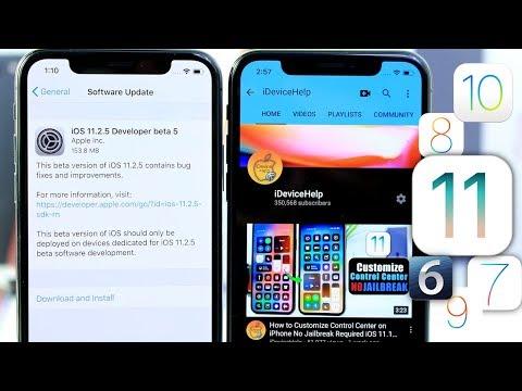 iOS 11.2.5 Beta 5 | Apple Downgrading Party iOS 6, 7, 8, 9 & More