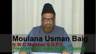 SDPI Karnataka Appeal (ULB Poll) - Moulana Usman Baig