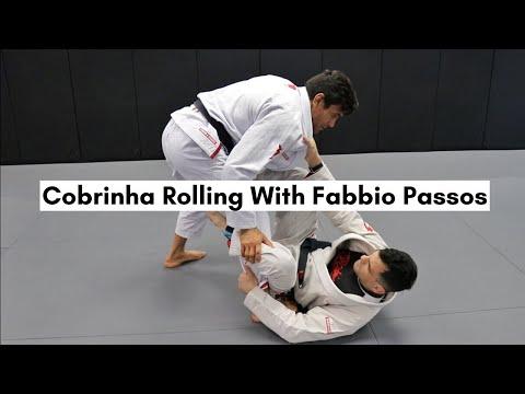 COBRINHA ROLLING WITH FABBIO PASSOS! (Cobrinha Bjj Los Angeles)