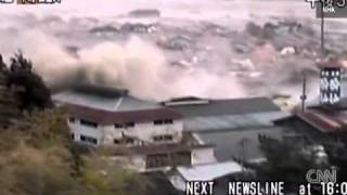 Massive wave flattens buildings in Japan ( a news from CNN)