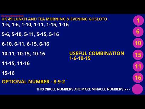 UK49 LOTTO TIPS PREDICTION LOTTO NUMBERS GOS LOTO PREDICTION NUMBER
