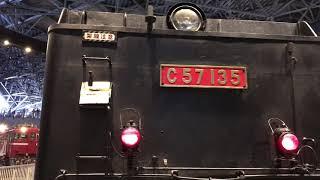 大宮鉄道博物館でC57が回転
